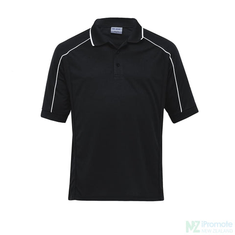 Dri Gear Eyelet Polo Black / Small Shirts