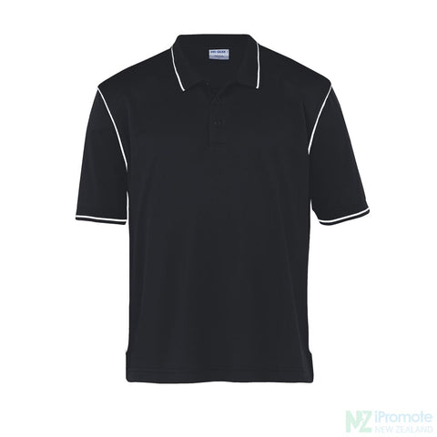Image of Dri Gear Hype Polo Black/white Shirts