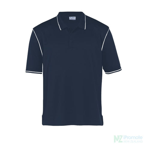 Image of Dri Gear Hype Polo Navy/white Shirts