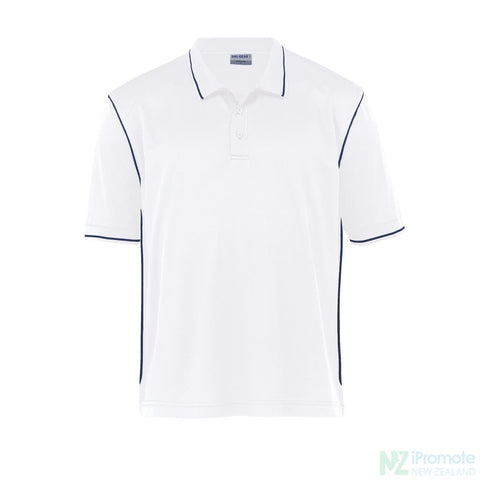 Image of Dri Gear Hype Polo White/navy Shirts