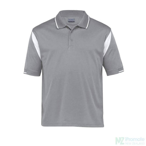 Dri Gear Insert Polo Aluminium/white Shirts