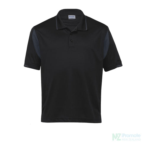 Dri Gear Insert Polo Black/charcoal Shirts