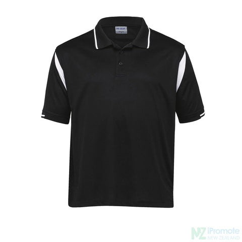 Dri Gear Insert Polo Black/white Shirts