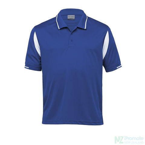 Dri Gear Insert Polo Royal/white Shirts