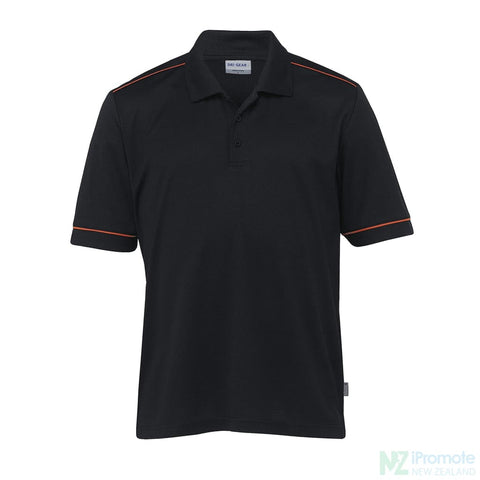 Dri Gear Matrix Polo Black/pumpkin Shirts