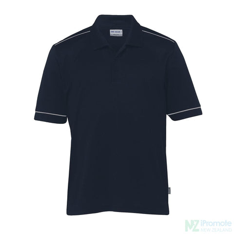 Dri Gear Matrix Polo Navy/aluminium Shirts