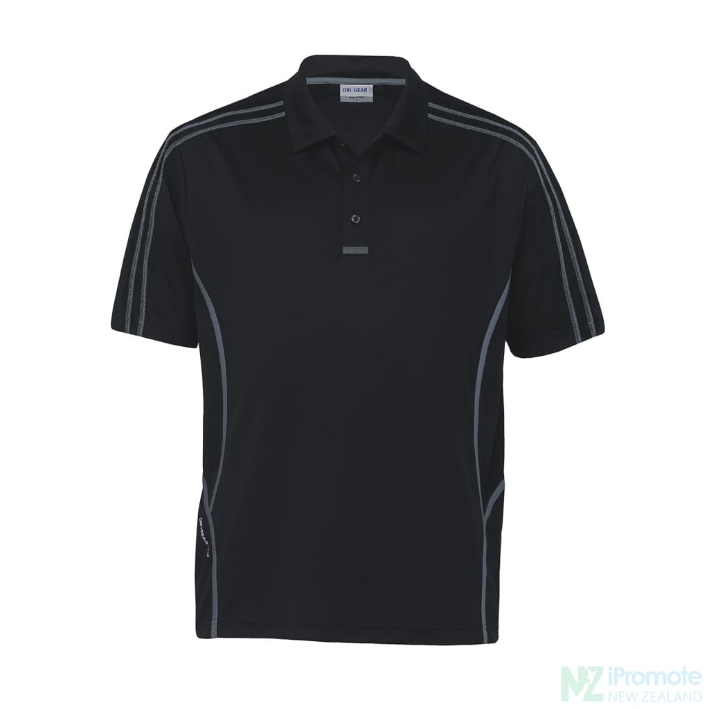 Dri Gear Reflex Polo Black/charcoal Shirts