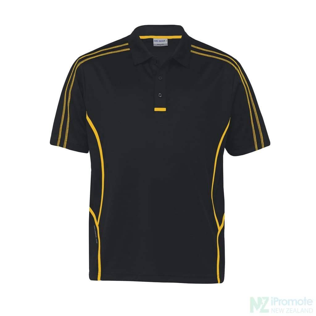 Dri Gear Reflex Polo Black/gold Shirts