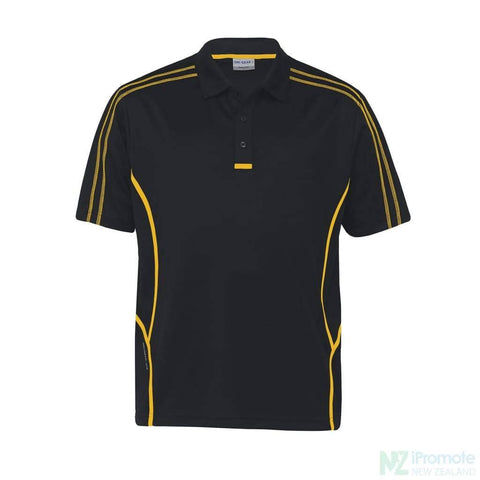 Image of Dri Gear Reflex Polo Black/gold Shirts