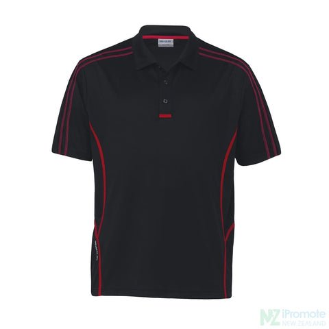 Dri Gear Reflex Polo Black/red Shirts