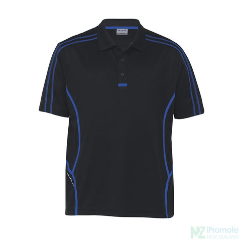 Image of Dri Gear Reflex Polo Black/royal Shirts