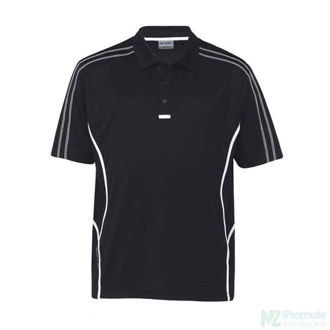 Image of Dri Gear Reflex Polo Black/white Shirts