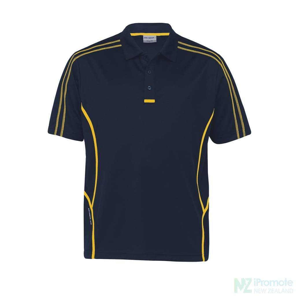 Dri Gear Reflex Polo Navy/gold Shirts