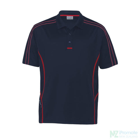 Image of Dri Gear Reflex Polo Navy/red Shirts