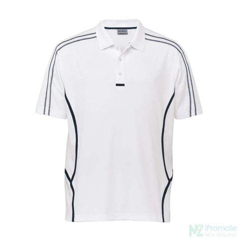 Dri Gear Reflex Polo White/navy Shirts