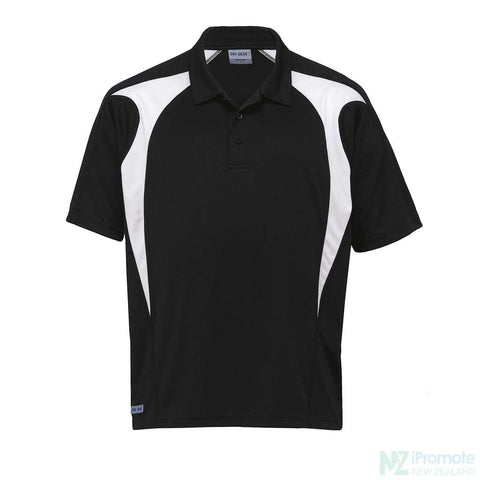 Image of Dri Gear Spliced Zenith Polo Black/white Shirts