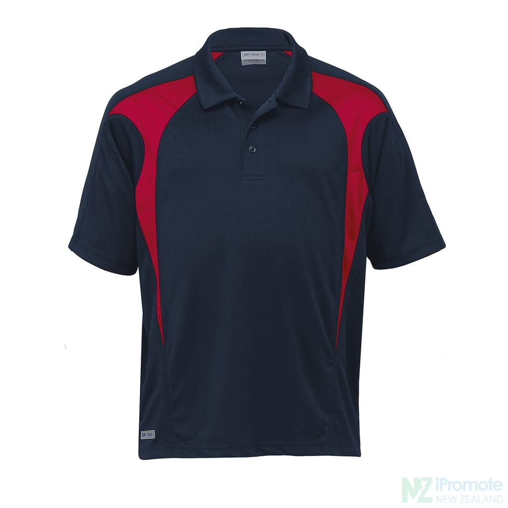 Dri Gear Spliced Zenith Polo Navy/red Shirts