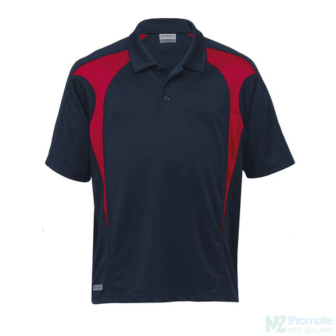 Image of Dri Gear Spliced Zenith Polo Navy/red Shirts