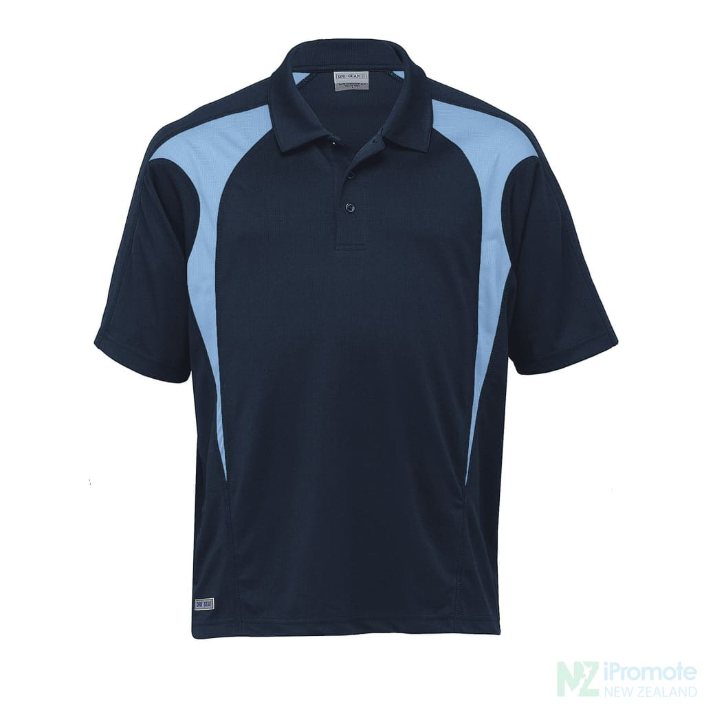 Dri Gear Spliced Zenith Polo Navy/sky Shirts