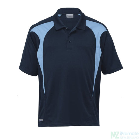 Image of Dri Gear Spliced Zenith Polo Navy/sky Shirts