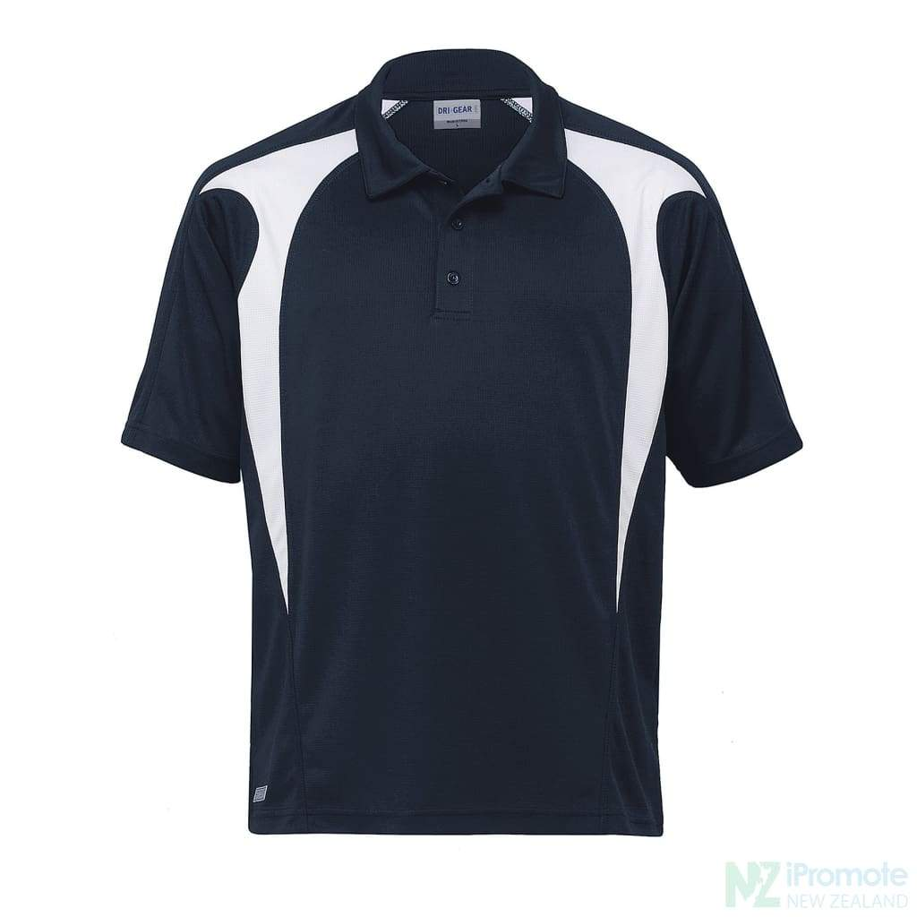 Dri Gear Spliced Zenith Polo Navy/white Shirts