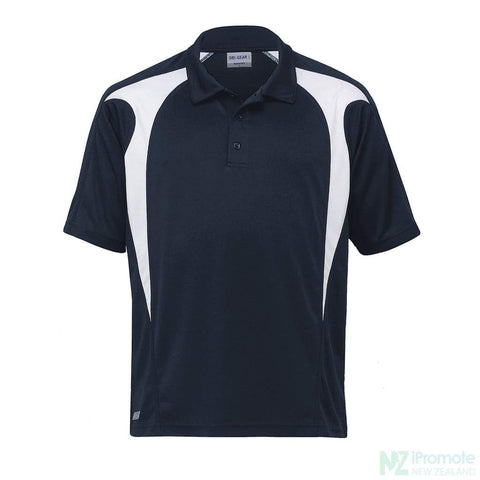 Image of Dri Gear Spliced Zenith Polo Navy/white Shirts