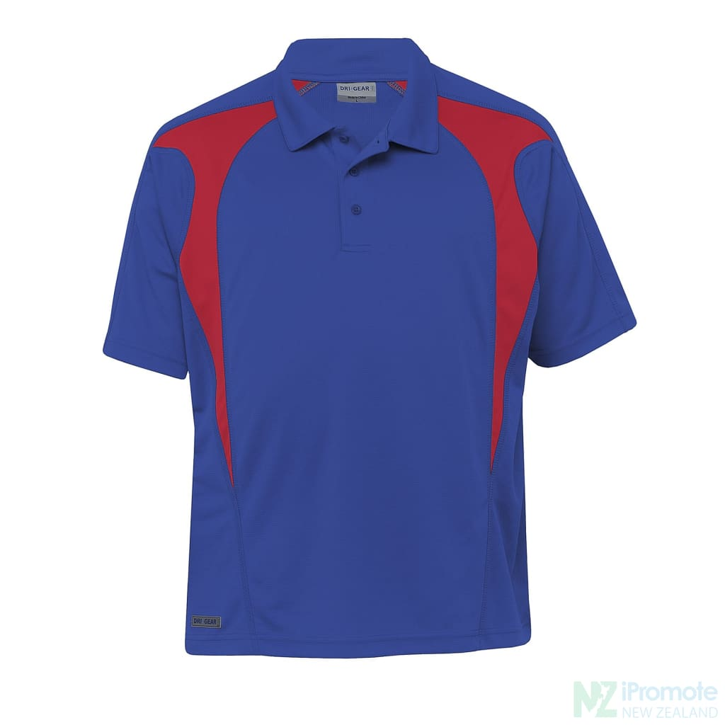 Dri Gear Spliced Zenith Polo Royal/red Shirts