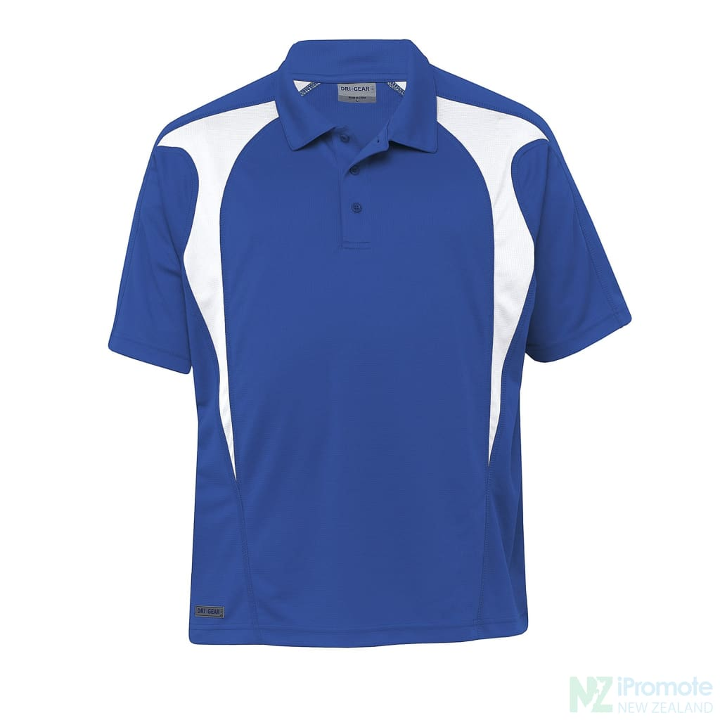 Dri Gear Spliced Zenith Polo Royal/white Shirts