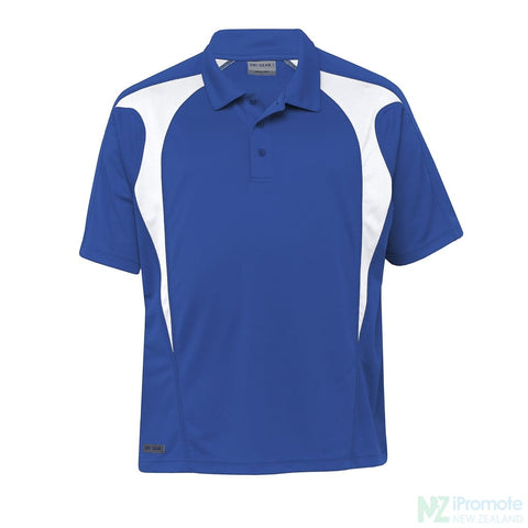 Image of Dri Gear Spliced Zenith Polo Royal/white Shirts