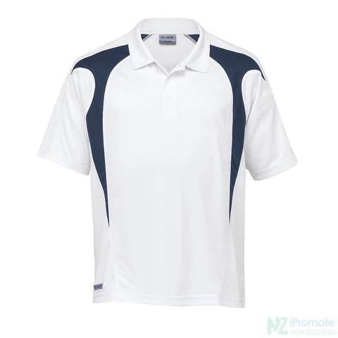 Image of Dri Gear Spliced Zenith Polo While/navy Shirts