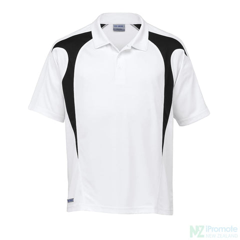 Image of Dri Gear Spliced Zenith Polo White/black Shirts