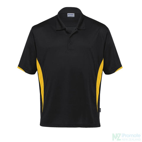 Dri Gear Zone Polo Black/gold Shirts