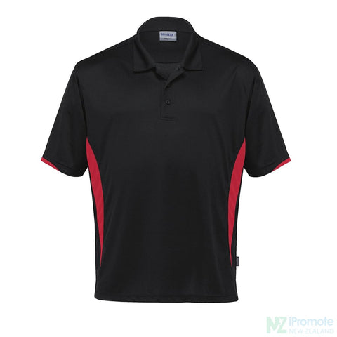 Dri Gear Zone Polo Black/red Shirts