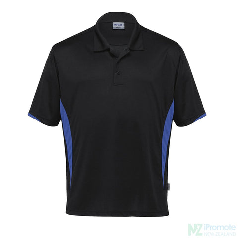 Dri Gear Zone Polo Black/royal Shirts
