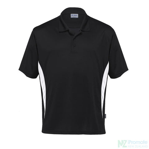 Dri Gear Zone Polo Black/white Shirts