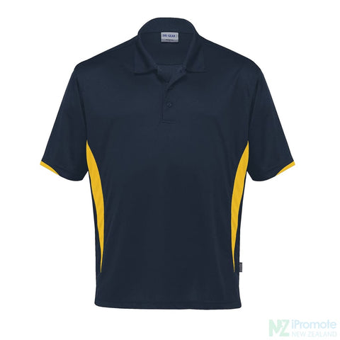 Dri Gear Zone Polo Navy/gold Shirts
