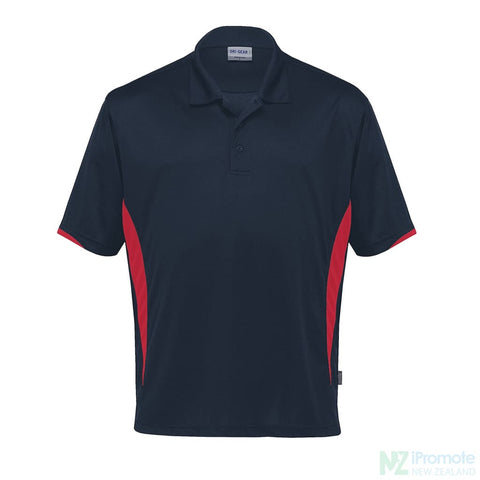 Dri Gear Zone Polo Navy/red Shirts