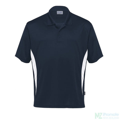 Dri Gear Zone Polo Navy/white Shirts
