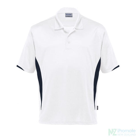 Dri Gear Zone Polo White/black Shirts