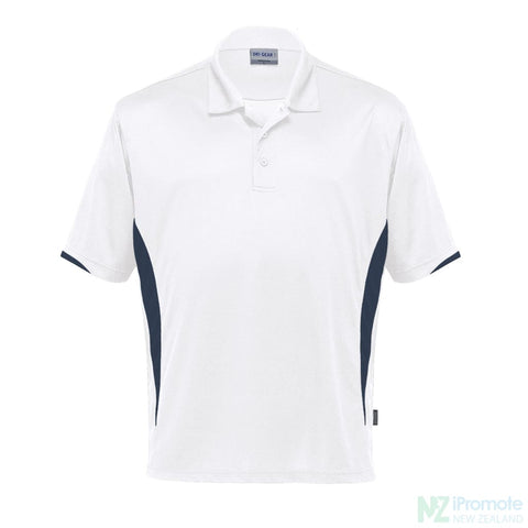 Dri Gear Zone Polo White/navy Shirts