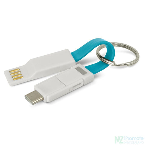 Electron 3 In 1 Charging Cable Light Blue Tech Accessories