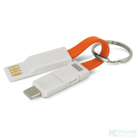 Electron 3 In 1 Charging Cable Orange Tech Accessories