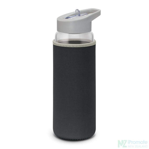 Elixir Glass Drink Bottle Black