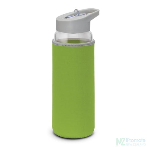 Image of Elixir Glass Drink Bottle Bright Green