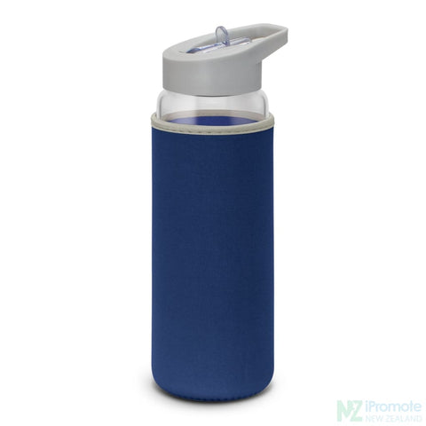 Image of Elixir Glass Drink Bottle Dark Blue