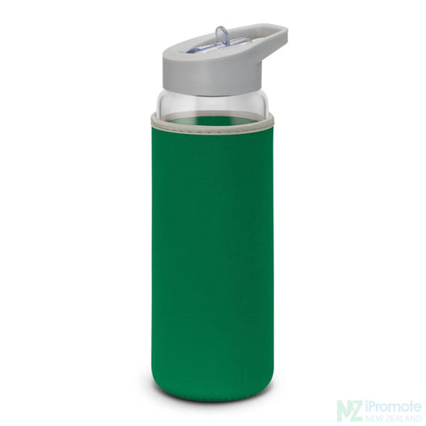 Image of Elixir Glass Drink Bottle Kelly Green