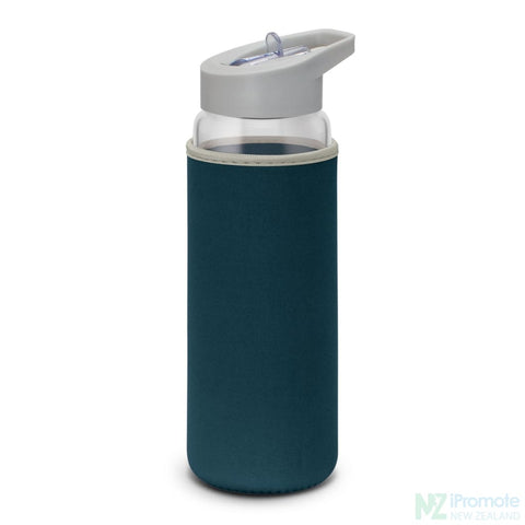 Image of Elixir Glass Drink Bottle Navy
