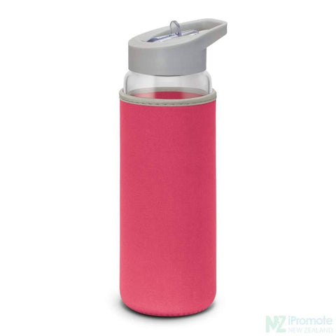 Image of Elixir Glass Drink Bottle Pink