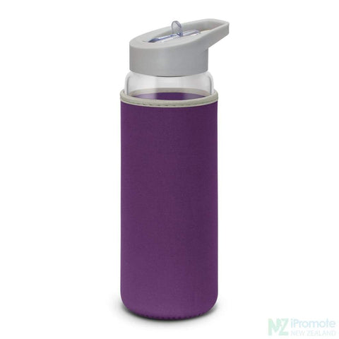 Image of Elixir Glass Drink Bottle Purple