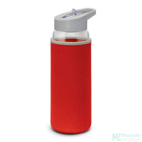 Elixir Glass Drink Bottle Red
